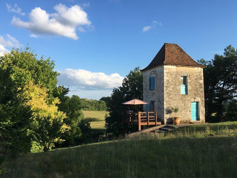 Romantic tower in deep countryside - Dorgodne border, aluguéis de temporada em Biron