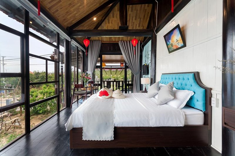 Vietnamese elthenic Traditional wooden house with full natural light.