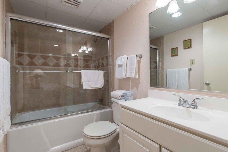 Un baño principal magistralmente renovado