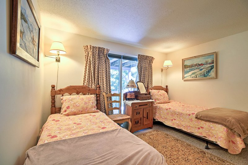 Two guests can claim this bedroom!