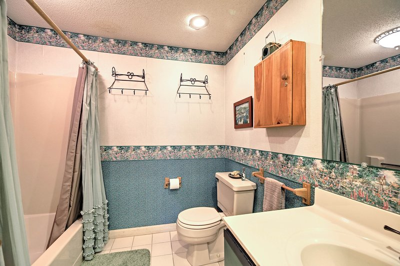 Each bathroom is stocked with fresh towels for your comfort.