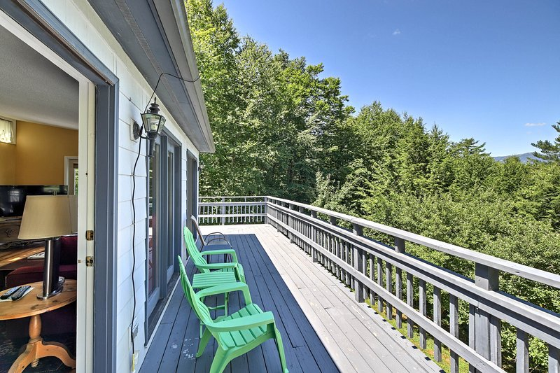 You'll love spending time on the deck regardless of the season.