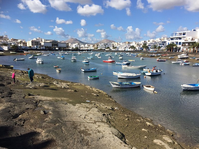 Arrecife old town. Perfect for a stroll with many food options. Just  a short drive of 20 minutes