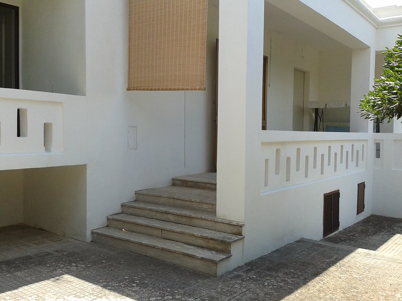 Entrance staircase to the house