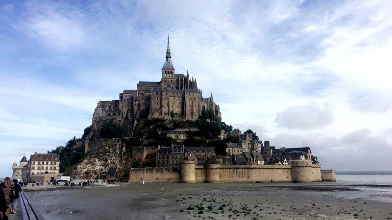 Mont Saint Michel, at low tide