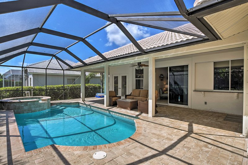 Explore Marco Island and Tigertail Beach from this vacation rental house.