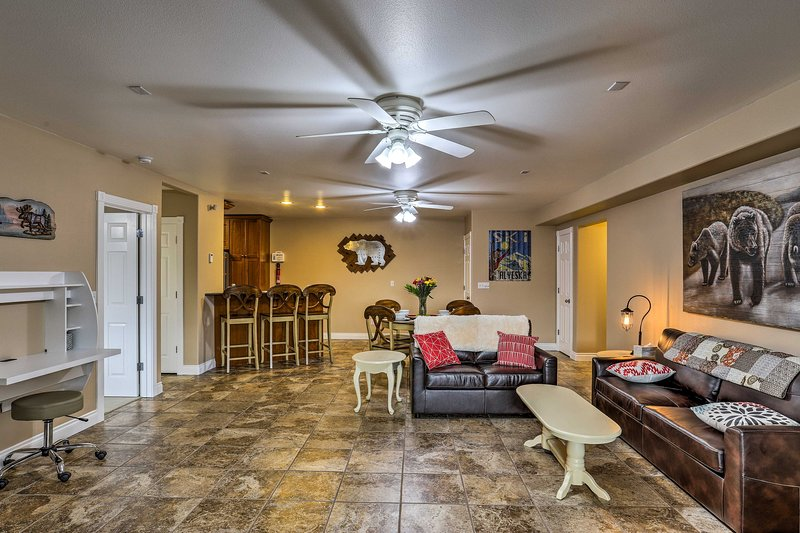 You'll love the open-concept layout of the apartment.
