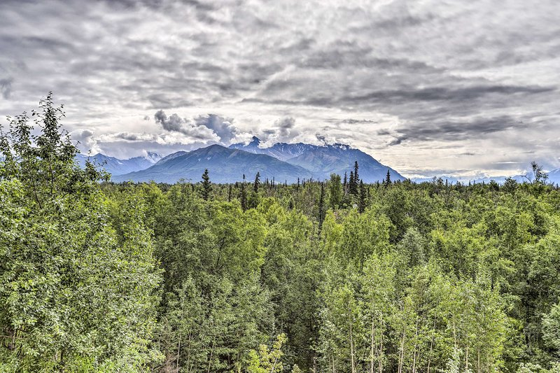 Gaze out at the stunning mountain ranges all around you!