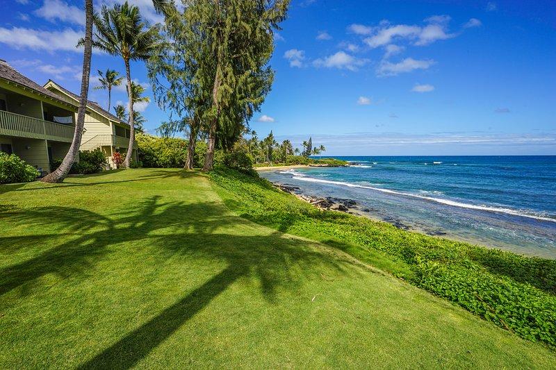Direct oceanfront Kapaa Sands #10 !!