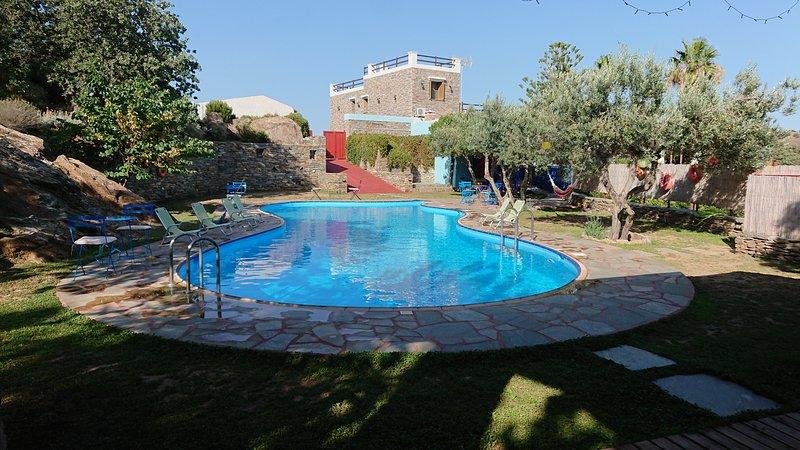 Villa ATHENA with private pool - Green Island Resort Kea, alquiler vacacional en Ceos