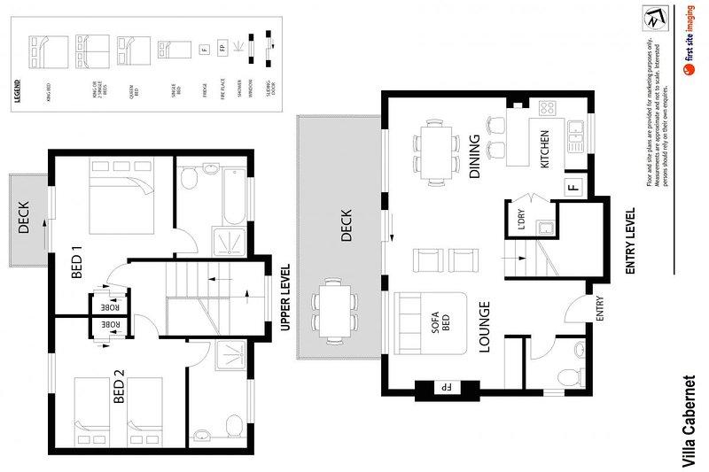 Alojamento em Hunter Valley - Villa Cabernet - Pokolbin - Floor Plan