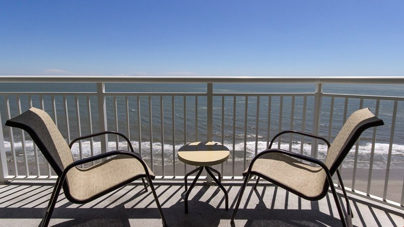 Enjoy the luxury of your own oceanfront balcony.
