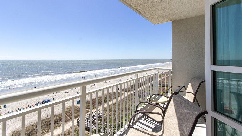 Enjoy stunning ocean views from your balcony.