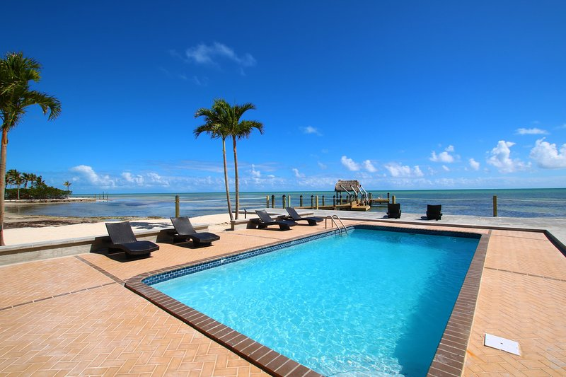 The Beach House-Oceanfront Estate with pool and dock ...