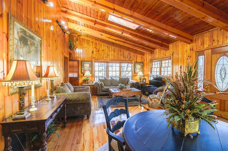 The Cutest Cabin in Helen is a spectacular space and beautifully decorated.