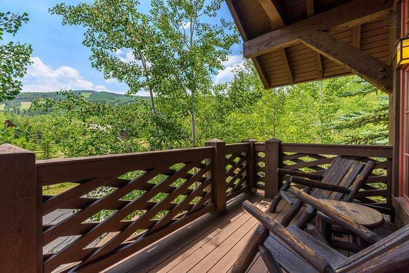 Rock away the afternoon on the deck and take in the views of Beaver Creek.