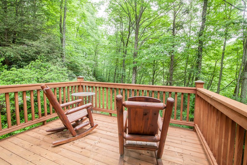 Juliette Deck off of Master Suite with Log Rockers