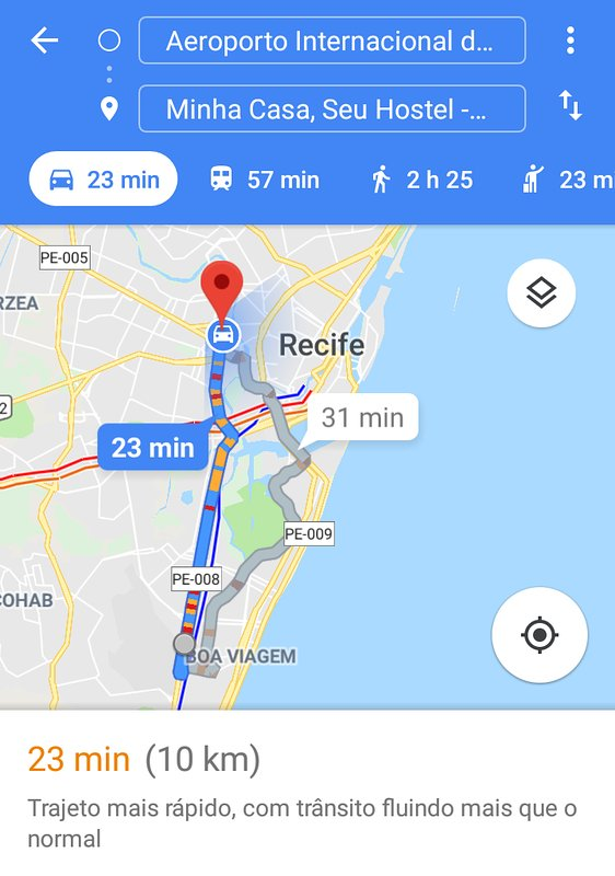 Airport route> residence