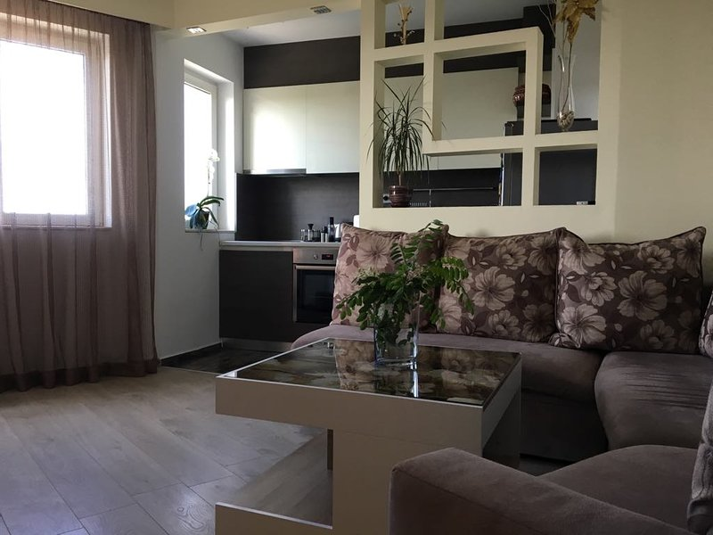 Cozy luxury high-rise! Free Parking! Terrace!, vakantiewoning in Plovdiv