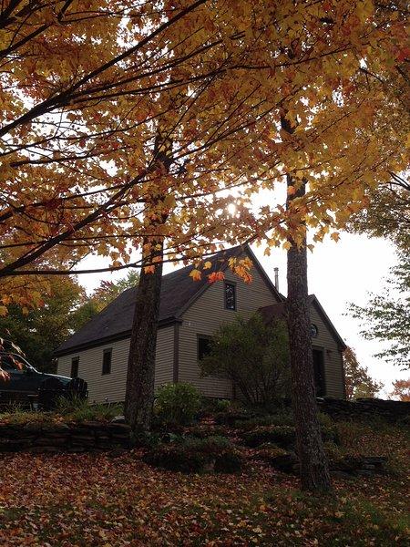 Maison à l'automne