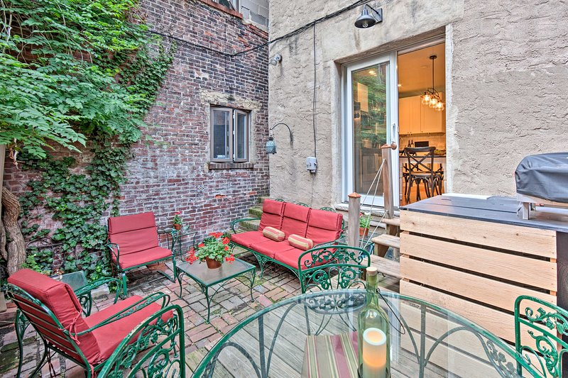 Fall in love with Philly from this unique double trinity townhome.