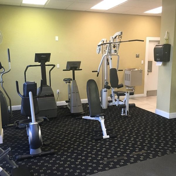 A well equipped gym is included.
