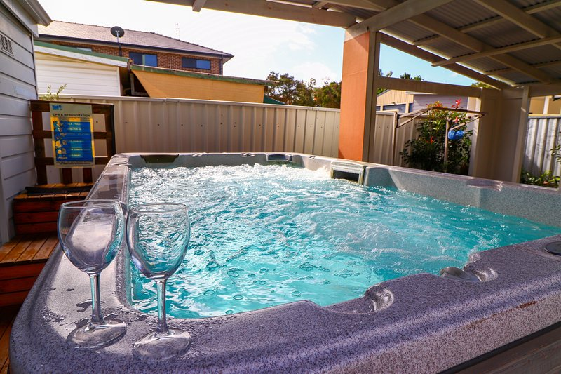 Relax in your own private swim spa
