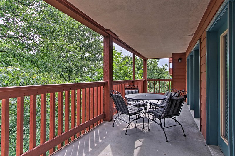 Revel in the fresh Smoky Mountain air from your private balcony.
