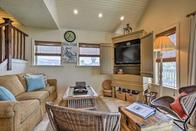Cette maison de vacances de 2 chambres à coucher et 2 salles de bain peut accueillir confortablement 9 personnes!