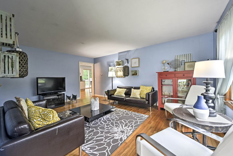 Claim this dreamy Narraganset vacation rental townhome as your own!