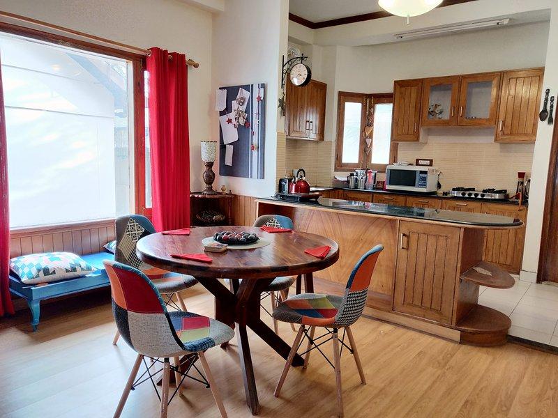 Wooden cozy apartment