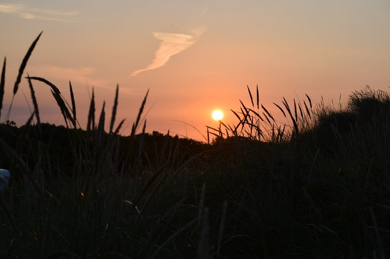 Sunset on the cliff at Waxham