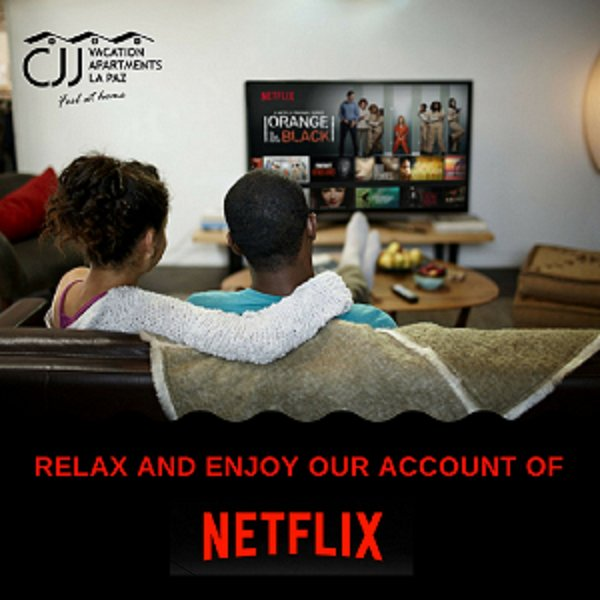 Enjoy our Netflix account