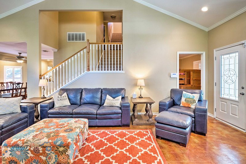 Your Kingsland escape awaits at this 7-bed, 3-bath vacation rental house.