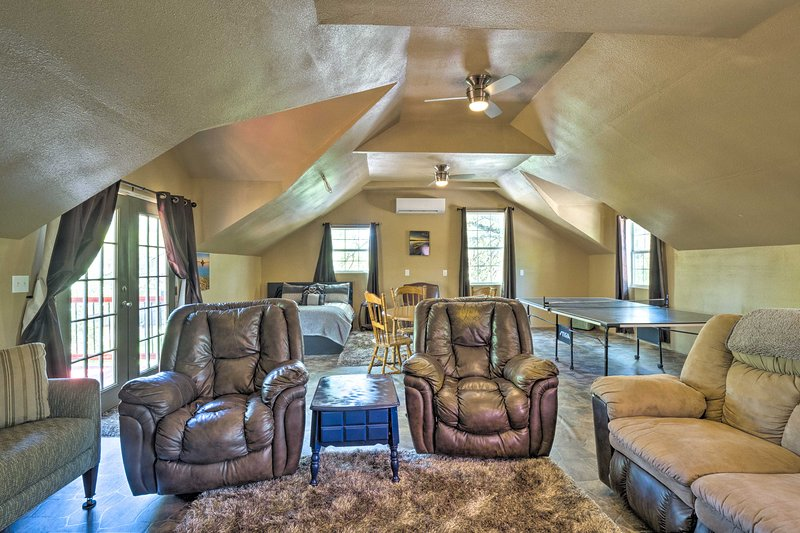 The loft is perfect for getting some space or playing games.