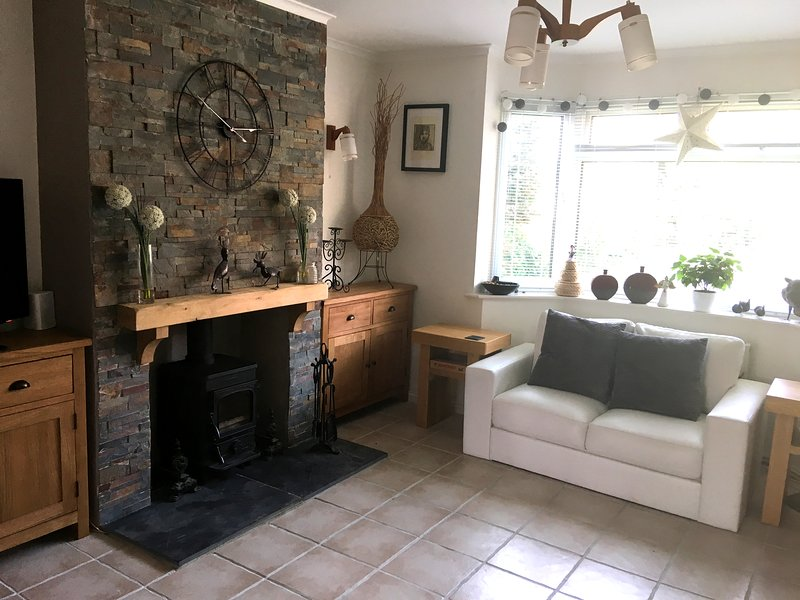 The warm and welcoming living room with TV, Freeview channels and European Sat channels, Stereo