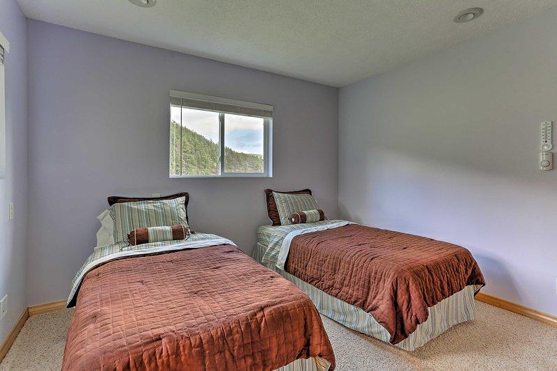 Con 2 camas individuales, la segunda habitación duerme cómodamente 2.