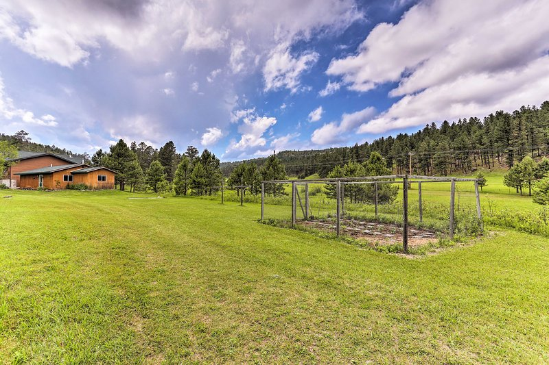 This beautiful property sits on 10 acres in Black Forest National Forest.
