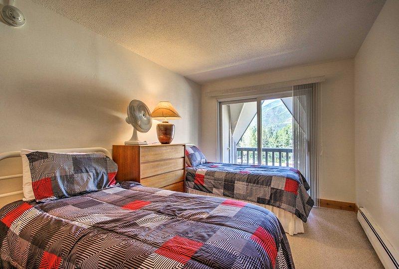 La deuxième chambre dispose de 2 lits jumeaux, parfait pour les enfants.