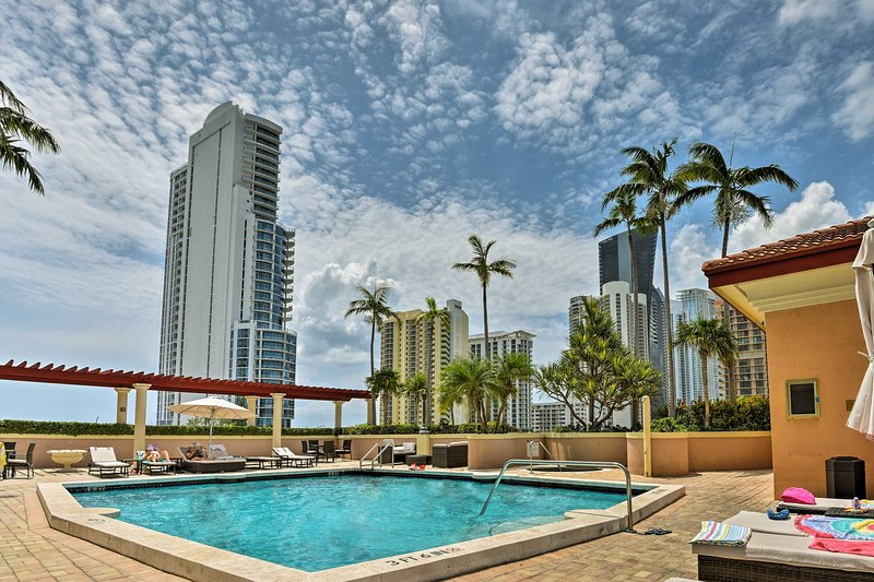 Discover the stunning oceanfront of Sunny Isles Beach from this vacation rental.