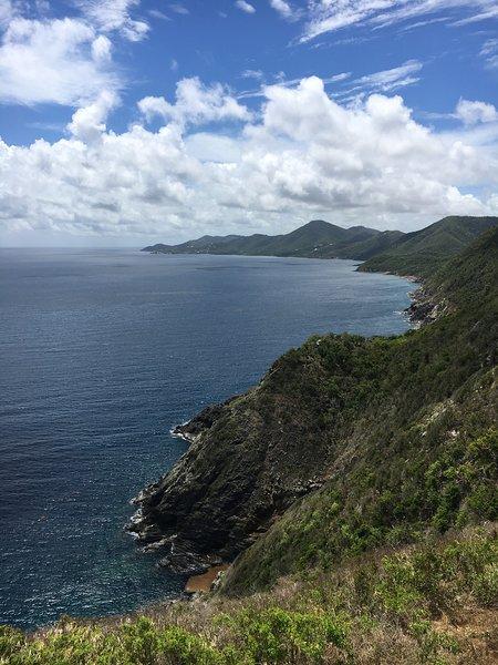 Utsikt från Hams Bluff på fyrturen