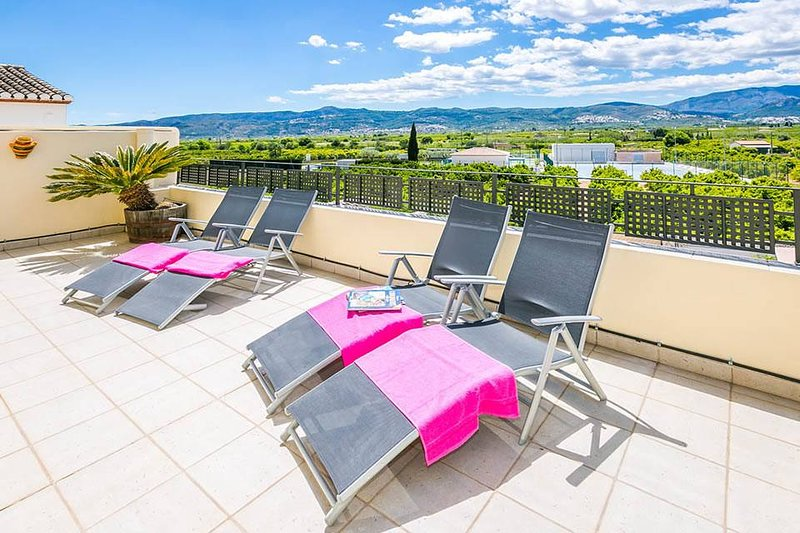 Relax on the South Facing Balcony Overlooking the Beautiful Orba Valley.