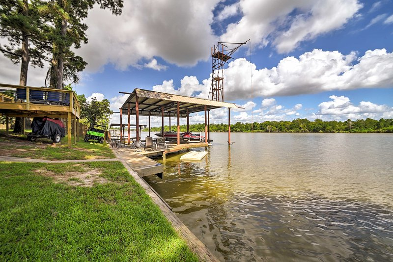 Jump in the San Jacinto from the private dock!