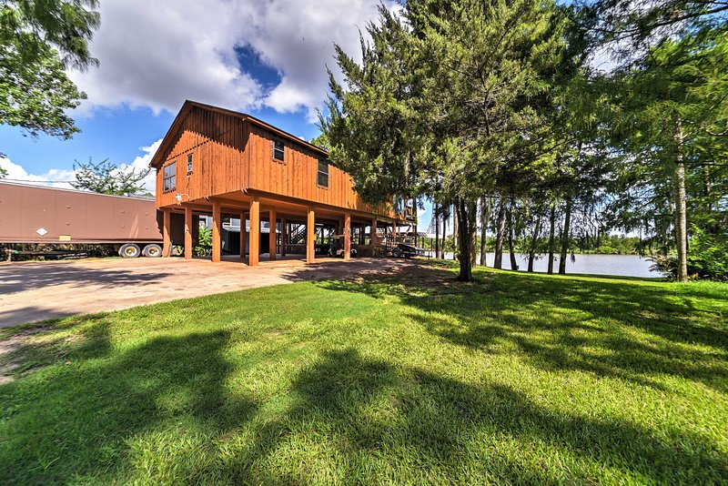 This stilted Houston home is the perfect place to get away from it all!
