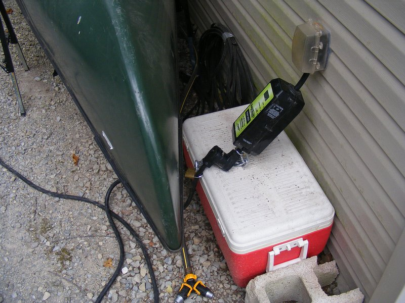 30 Amp RV electrical service with dual water hook ups.