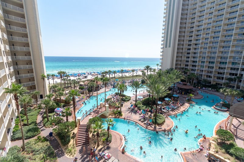 View of the amazing pool from the balcony