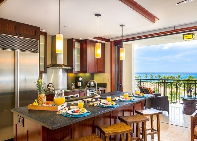 Magnifique vue sur l'océan depuis la cuisine!