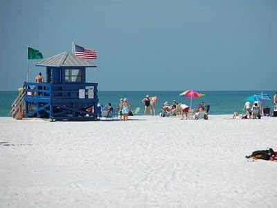 Beautiful Siesta Key Beach is only steps away from condo 409!