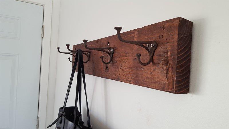 Hand made coat rack.