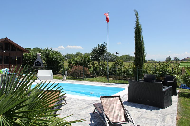 Amazing studio with swimming-pool, holiday rental in Bevaix
